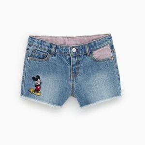 Zara Denim Mickey Mouse Shorts